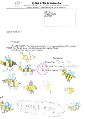 Zahvala od pčelica